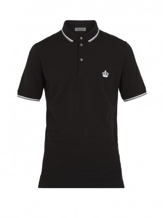 Black Oxford Polo Shirt