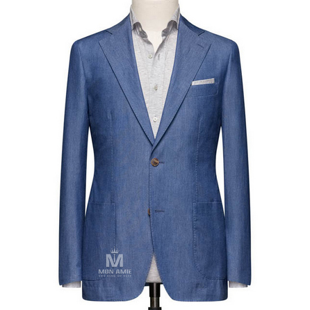 Light Blue  Notch Label Suit 71108DT7005