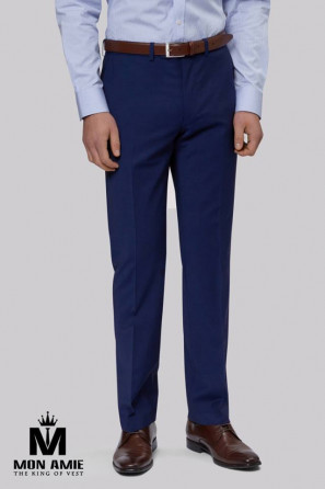 Men Regular Fit Trouser in blue
