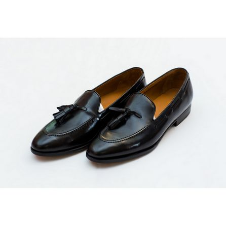 BLACK VELVET PIETRO LOAFERS