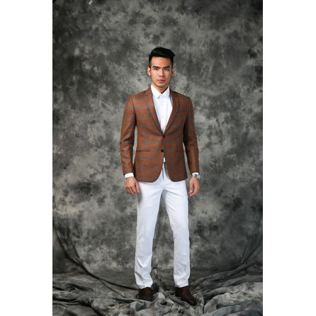 Green and Orange Mix Blazer 25010DT607