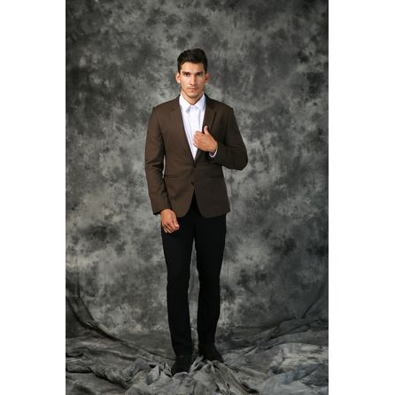 Brown Wool and Silk Blazer