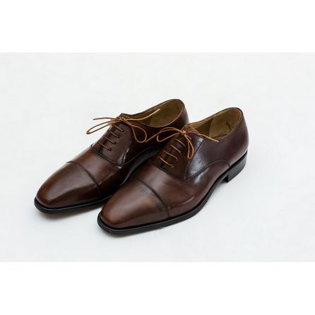 HAND-BUFFED BROWN OXFORD SHOES