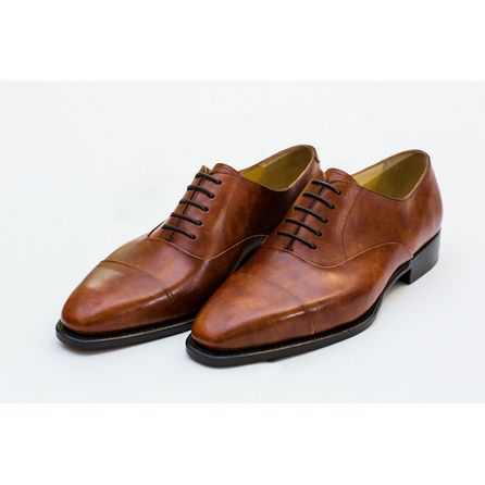 BROWN HAND-BUFFED DERBIES