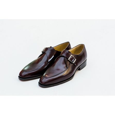 BRICK RED MONK SHOES