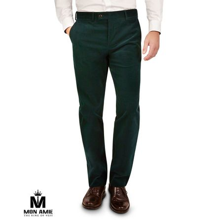 Green Wool and CottonTrouser