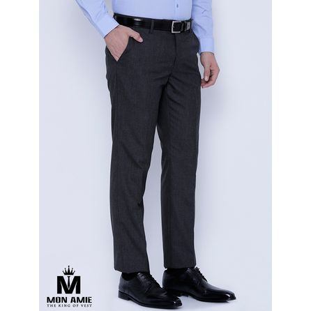 Classic Grey Wool Trouser
