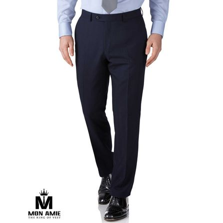 Dark Navy Wool Trouser