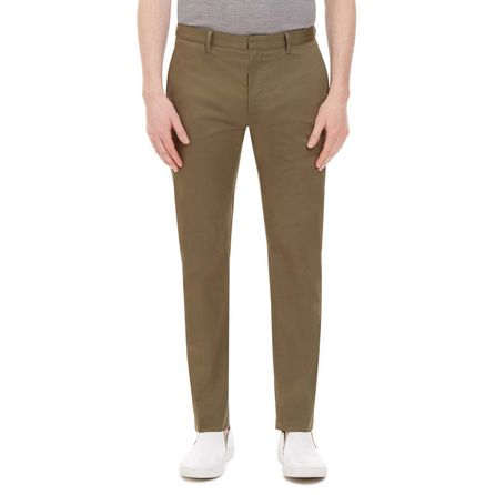 Brown Wool and Cotton Trouser