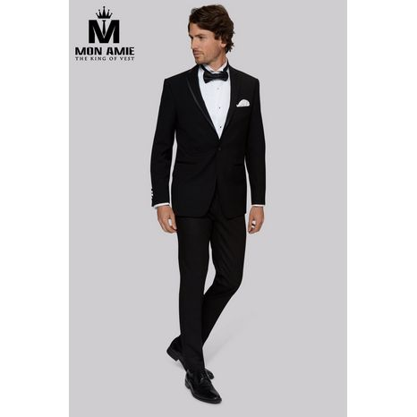 Black Notch Label Wool Tuxedo