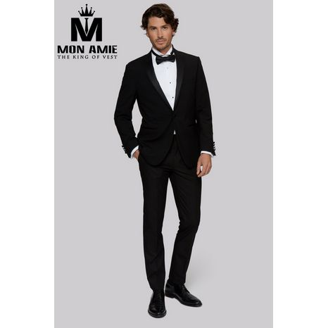 Black Peak Label Wool Tuxedo