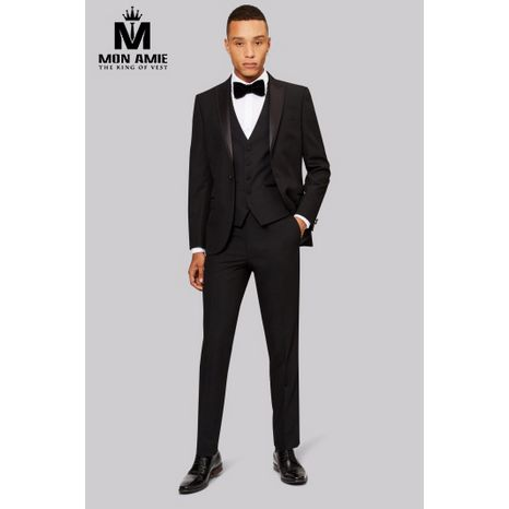 3-Piece Black Shawl Label Tuxedo