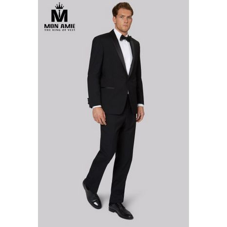 Slim fit Black Shawl Label Tuxedo