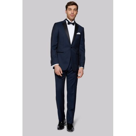 Slim fit Navy Notch Label Tuxedo