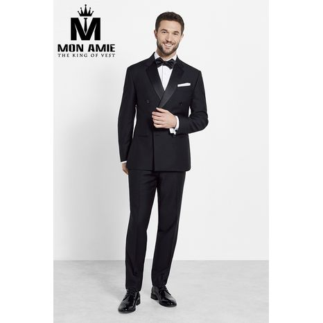 Black Shawl Label Double Breasted Tuxedo