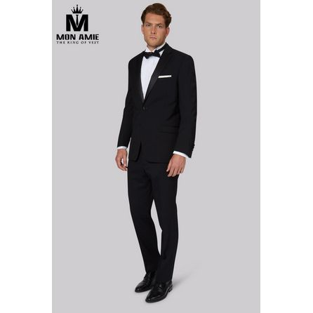 Slim fit Black Wool Tuxedo