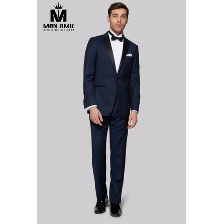 Navy Blue Notch Label Tuxedo