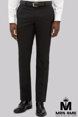 Men Regular Fit Trouser in Black