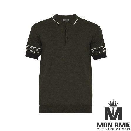 Brown Cotton Polo Shirt