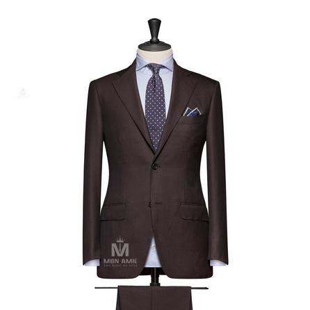 Brown Notch Label  Suit 624DT60712