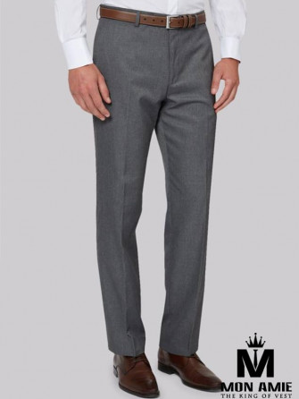 Men Regular Trouser in Light Grey