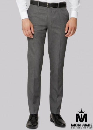 Men Regular Trouser in Grey