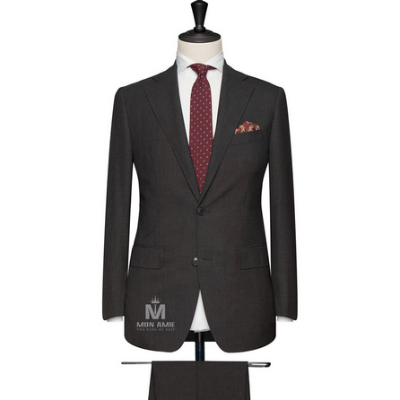 Charcoal Notch Label Suit 624DT60713