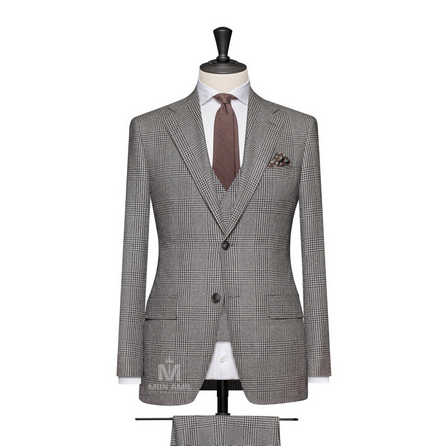 Charcoal Notch Label Suit BAR15073