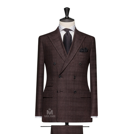 Dark Brown Peak Label Suit 624DT60827