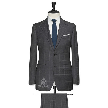 Dark Grey Notch Label Suit 6965CE0281