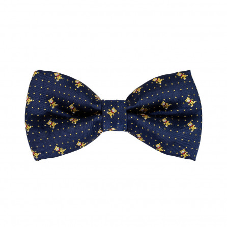 Navy with Yellow Designs