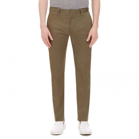 Men Regular Trouser in Yellow Beige