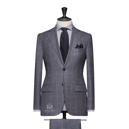 Grey Blue Notch Label Suit 789DT70053