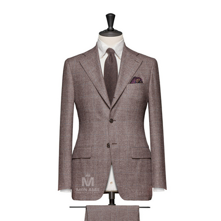 Light Brown Notch Label Suit 789DT70005