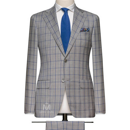 Light Grey Notch Label Suit 6965CE0306