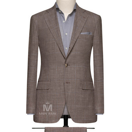 Medium Brown Notch Label Suit 624DT60839