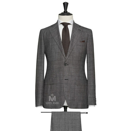 Medium Grey Notch Label Suit 704SB380