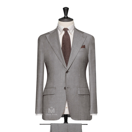 Medium Grey Notch Label Suit BARXH6048