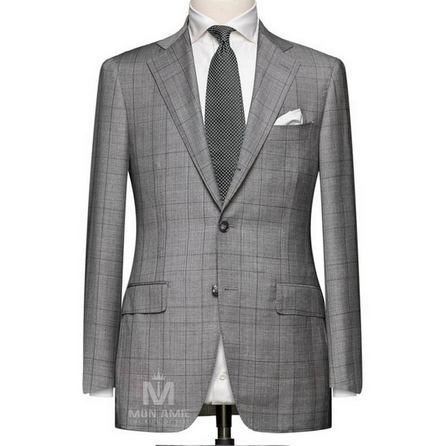 Medium Grey Notch Label Suit 704SB362