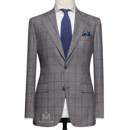 Medium Grey Notch Label Suit 6965CE0281