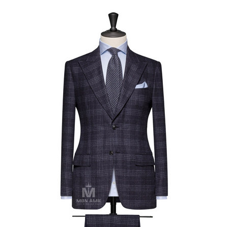 Midnight Blue Peak Label Suit 704DT70132