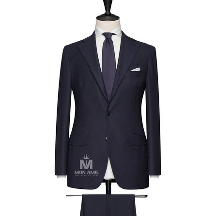 Nav High Twisted Notch Label Suit 624DT60731