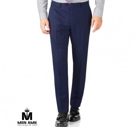 Men Regular Trouser in Midnight Blue