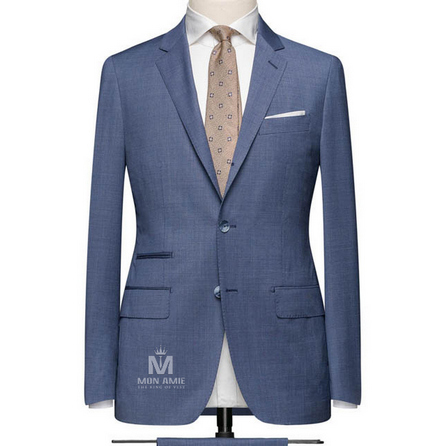 Slate Blue Notch Label Suit 624DT60707