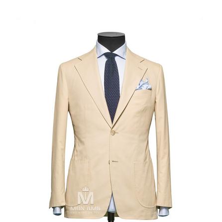 Plain Beige Notch Label Suit 624DT60722