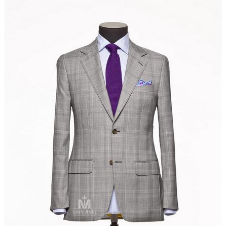 Glencheck Grey Notch Label Suit 624DT60824