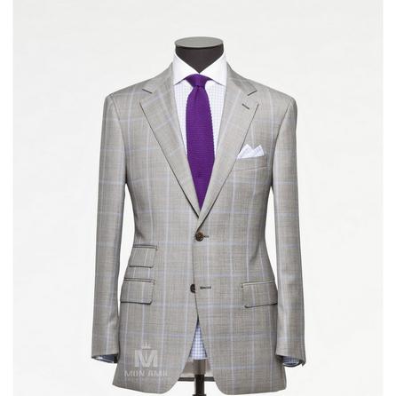 Sharkskin Check Notch Label Suit 6965CE0281