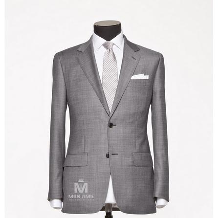 Plain Grey Notch Label Suit 624DT60775