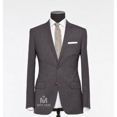 Plain Grey Notch Label Suit 523DT50709