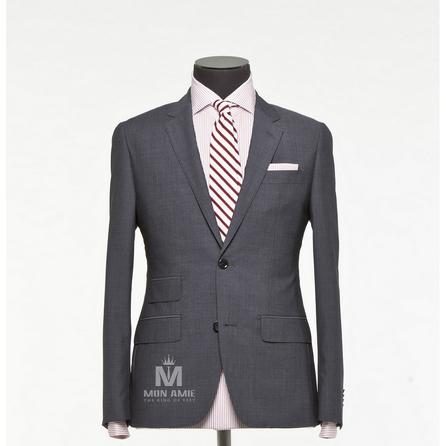 Stripes Grey Notch Label Suit 624DT60703